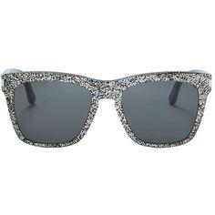 5c1c97529a6 Saint Laurent Women s Devon Glitter Sunglasses ( 405) ❤ liked on Polyvore  featuring accessories