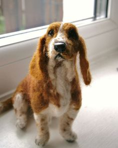 needle felted basset hound by adore62, via Flickr