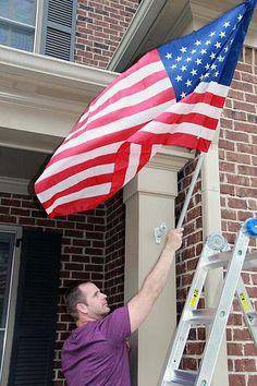 Properly displaying your american flag home improvement for Flag etiquette at home