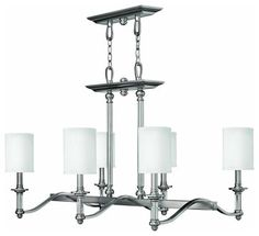 4796BN Sussex Island Light, Brushed Nickel - contemporary - Kitchen Island Lighting - 1800Lighting