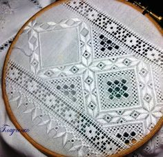 Anna Hardanger Embroidery, Folk Embroidery, Embroidery Needles, White Embroidery, Embroidery Patterns, Cross Stitch Patterns, Drawn Thread, Lace Doilies, Heirloom Sewing