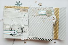 some elements (doodled/inky rings, glitter, numbers) and paper patterns  simple and lovely - mini album by Nebri DD