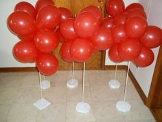 Air filled Balloons on home made stands