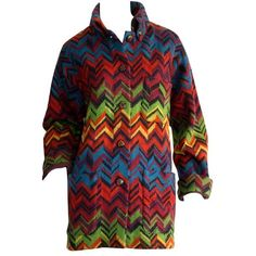 best service 74ab5 1971f Preowned Amazing Vintage Missoni Signature Colorful Chevron Slouchy...  (€635) ❤