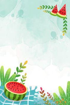 Cute Summer Backgrounds, Summer Background Images, Watermelon Background, Watermelon Wallpaper, Graphic Wallpaper, Iphone Wallpaper, Walpapers Iphone, Yalda Night, Summer Poster