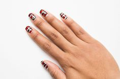 The Perfect Nail Art For People Who Think They Can't Do Their Own Nail Art - It looks profesh and is super-easy to do yourself.