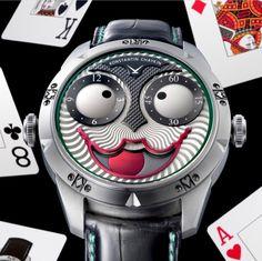 Konstantin Chaykin Joker watch Men's Watches, Cool Watches, Watches For Men, Joker Watch, Perpetual Motion, Clocks, Zodiac, Awesome, Accessories