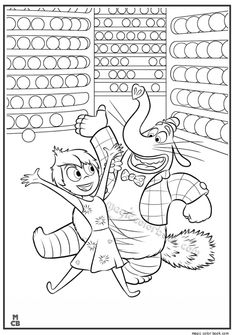 Inside Out Coloring Pages Free Printable 40