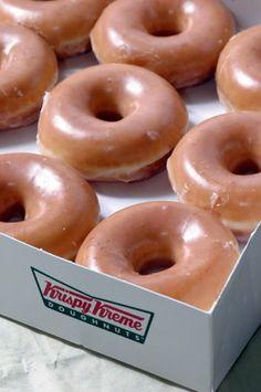 Truly, truly scrumptious Krispy Creme doughnuts.
