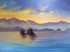 My favorite commissioned original oil painting 4' x 6'    Alaska Good Morning