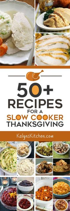 50  Recipes for a Slow Cooker Thanksgiving [featured on SlowCookerFromScratch.com]