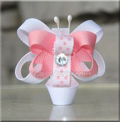 Butterfly Ribbon Sculpture, Hair Clip