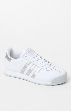 Women's White & Silver Samoa Sneakers