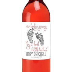 Pregnancy Announcement Wine Labels We're by TheSloshedSisters Beer Lovers, Having A Baby, Label Design, Announcement, Wine Labels, Pregnancy, This Or That Questions, Bottle, Liquor