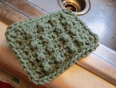 crochet sponge pattern 400x305 20 Free Patterns for One Skein Projects You Can Complete Before Christmas