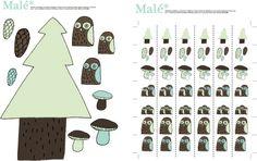 Owls and mushrooms
