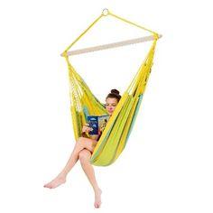 AZ 2050012 - Poltrona pensile - Bogota Limona - comoda per leggere e sognare - total relax all'aperto- Amazonas amache