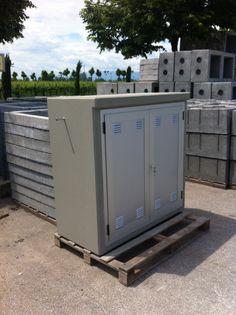 Porta Contatori Gas con serramenti in alluminio