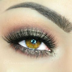 """Stunning eye makeup look. Those lashes are ESQIDO mink lashes in """"Voila Lash"""""""