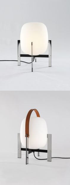 The Cesta Metálica #lamp by Miguel Milá (1962) is re-edited with or without a leather handle.