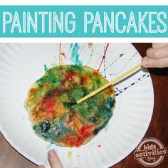 For pancake day.Painting Pancakes: Modern Art You Can Eat Preschool Art Projects, Preschool Crafts, Toddler Activities, Projects For Kids, Fun Crafts, Activities For Kids, Letter Activities, Preschool Ideas, Book Crafts