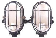 French Industrial Iron explosion sconces