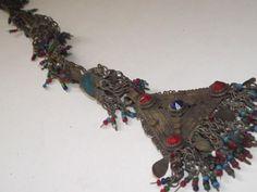 Unusual Vintage Kuchi Button Metal Hair Tassel by BirgissBellywear, £17.50