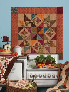 A lovely quilt for your kitchen! From Homestyle Quilts