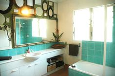 Lovely aqua green tiles