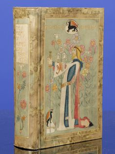 """The Works of Alfred Lord Tennyson.Superb """"Vellucent"""" Binding by Cedric Chivers.Hand-Painted By Dorothy Carleton Smyth.London: Macmillan a..."""