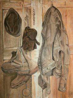 Het jasje van Jelmer, (schilderij/painting van/by Bob Bosma, Heiloo), naar het origineel van Jopie Huisman)