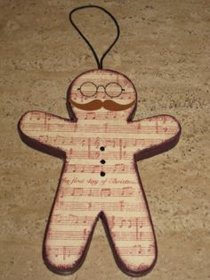 Gingerbread Man Ornament - 12 Days of Christmas