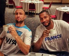 94d3414ef1ba Manu Ginobili and Boris Diaw getting ready for the games in Rio. Go Spurs  Go!