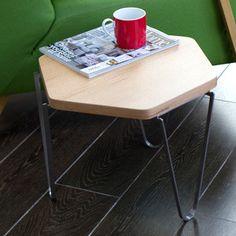 Hexagonal Side Table Oak Veneer, 177€, now featured on Fab.