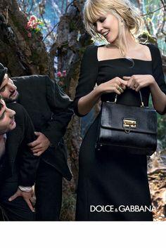 Dolce & Gabbana, Claudia Schiffer, Fall Winter 2014 2015, Campaign