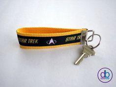 Star Trek Inspired Ribbon Keychain by DeBoopShop on Etsy, $7.00