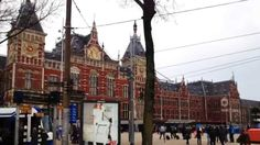 Europe town walk Vol 3 Amsterdam(Nederland)4 Around Station Amsterdam Centraal(HD Ver)