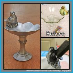 DIY And Household Tips: Turn Dollar Store Knick Knacks Into A Faux Silver ...