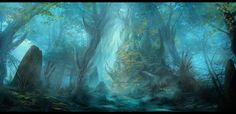 Misty Marshes by ~Narandel on deviantART