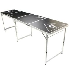 Official Size 8' Folding Beer Pong Table - 4 Section Aluminium Body with Easy Wipe Surface - For BeerPong Drinking Games Hartleys http://www.amazon.co.uk/dp/B00AC5U1UC/ref=cm_sw_r_pi_dp_pRIJtb120PQWGH38