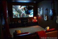 mini sala de cine casera - Buscar con Google