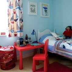 Kinderzimmer Wohnideen Möbel Dekoration Decoration Living Idea Interiors home nursery - Jungen nautischen Schlafzimmer