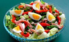 Voorjaarssalade met asperge en ei