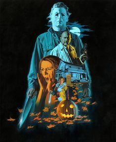 Horror Archives - Page 6 of 33 - Home of the Alternative Movie Poster -AMP- Horror Icons, Horror Movie Posters, Movie Poster Art, Best Horror Movies, Classic Horror Movies, Scary Movies, Films D' Halloween, Halloween Poster, Halloween H20