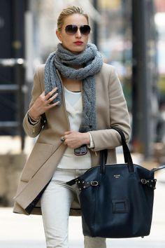 Chic Fall/Winter Outfit-- Karolina Kurkova