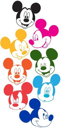 Mickey Mouse Faces in Technicolor (colored by me) all the jesus, but the real one the yellish one. make the ones i need their magic and their stuff mickey mouse i will kill them later. Disney Mickey Mouse, Mickey Mouse Y Amigos, Minnie Y Mickey Mouse, Retro Disney, Mickey Mouse And Friends, Disney Love, Disney Kunst, Arte Disney, Disney Magic