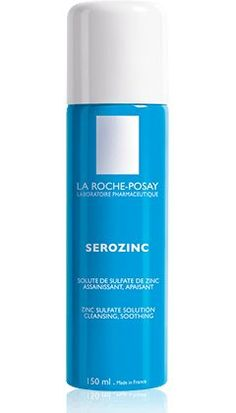 La Roche-Posay's Serozinc (Toner) Spray-on toner for acne-prone skin. Keeps redness at bay while purifying inflamed skin. Lotion, Acne Prone Skin, Oily Skin, Acne Skin, Sensitive Skin, Maybelline, French Skincare, Face Mist, French Beauty