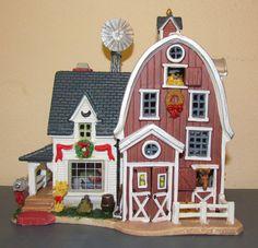 Lemax xmas Village Harvest Crossing CHUCK'S FARM Lighted Building Barn House