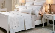 Hampton Bed Coverlet & Linen Accessories by Private Collection from Harvey Norman New Zealand Coverlet Bedding, Linen Bedding, Bed Linen, Harvey Norman, Architectural Features, Quilt Sets, Quilt Cover, Dream Bedroom, Soft Furnishings