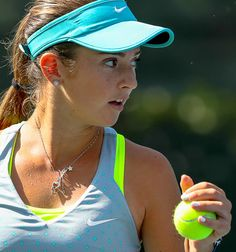 """Catherine """"Cici"""" Bellis, one of the young stars at South Seas Resort on #Captiva this week for Women's Pro Classic. / #USTA #tennis / MauricioPaiz.com photo"""